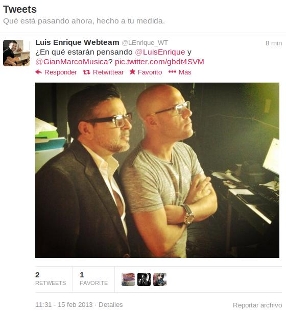 El cantante Luis Enrique comparte una imagen junto a GianMarco